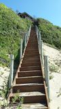 Stairway in Mozambique. Beautiful stairway in Mozambique granting access from the beach to a house. Coastline of Africa Stock Image
