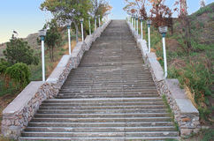 Stairway na montanha de Mitridat em Kerch imagem de stock royalty free