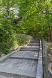 Stairway at the Namsan Park in Seoul Royalty Free Stock Images