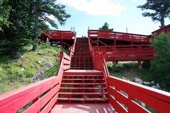 Stairway nas montanhas de Sandia Fotografia de Stock