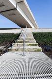 Stairway near an bridge Stock Photos