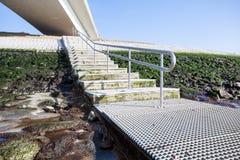 Stairway near an bridge Royalty Free Stock Image