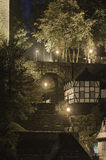 Stairway At Night, Monschau Royalty Free Stock Images