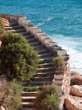 Stairway by the ocean close up. Royalty Free Stock Photography