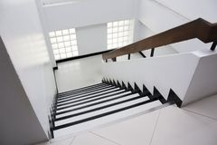 Stairway in office building stock photo