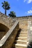 Stairway in old castle. Stairway in old Mediterranean castle. Larnaka, Cyprus Royalty Free Stock Photo