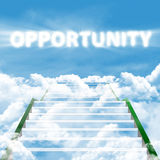 Stairway of opportunity Stock Image