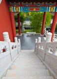 Stairway of oriental design Stock Photos