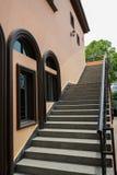 Stairway outside European-style building Stock Photo