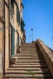 Stairway in Piombino, Tuscany, Italy stock photos