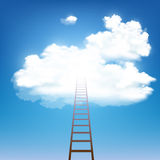 Stairway rises to the clouds. Stock . Stock Image