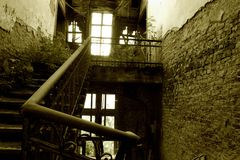 Stairway in ruins Stock Photos