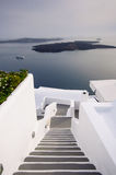 Stairway in Santorini Stock Photo