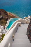Stairway in Santorini Royalty Free Stock Photos