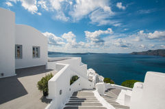Stairway in Santorini Royalty Free Stock Photography