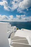 Stairway in Santorini Stock Photography