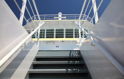 Stairway on ship Stock Image