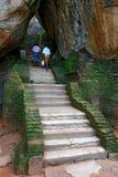 Stairway in Sigiriya Castle Royalty Free Stock Images