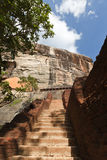Stairway at Sigiriya rock Royalty Free Stock Images