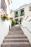 Stairway in a spanish town. Stairway in the andalusian town Estepona, Spain Stock Photography