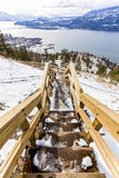 Stairway in Spring above Lake Okanagan Royalty Free Stock Photo