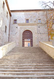 Stairway. Stairs to the Basilica Sant'ubaldo - Gubbio (Italy Royalty Free Stock Images
