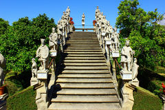 Stairway with statues of portuguese kings, Castelo Branco, Portu Royalty Free Stock Photos