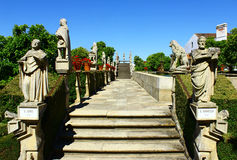 Stairway with statues of portuguese kings, Castelo Branco, Portu Stock Image