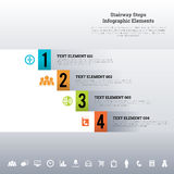 Stairway Steps Infographic Elements Royalty Free Stock Images