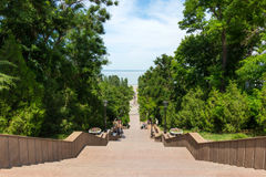 Stairway in Taganrog Royalty Free Stock Photo
