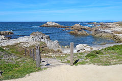 Stairway to Asilomar State beach in Pacific Grove, California Royalty Free Stock Images