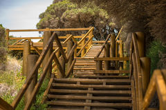 Stairway to beach and heaven Stock Images