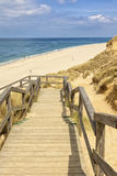 Stairway to the beach at kampen, Sylt Stock Photo