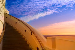 Stairway to the blue sky background. Using for background and concept. ladder to success Stock Photo