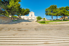 Stairway to Bonaria abbey Stock Photography