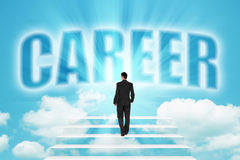 Stairway to business Career Royalty Free Stock Image