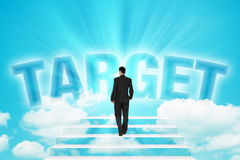 Stairway to business Target Stock Photos