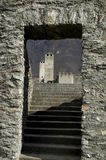 Stairway to castle Royalty Free Stock Images