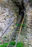 Stairway to the cave Stock Photography