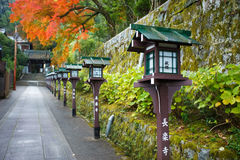 Stairway to Choraku-ji Temple in Kyoto Stock Image