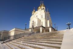 Stairway to church Stock Photo