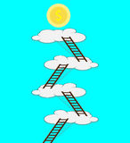 Stairway to the cloud for money Stock Images