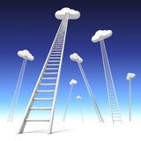 Stairway to the clouds. 3D concept stairway to the cloud Royalty Free Stock Photography