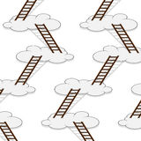 Stairway to clouds seamless pattern Royalty Free Stock Photos
