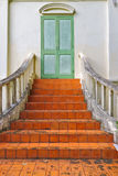 Stairway to the door by colonial style at Thailand Stock Photo