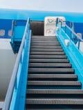 Stairway to enter plane Royalty Free Stock Photos