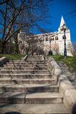Stairway to Fisherman's Bastion, Budapest, Hungary Stock Photo