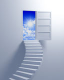 Stairway to the freedom. Illustration 3d concept background stock illustration