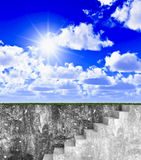 stairway  to  freedom Royalty Free Stock Image