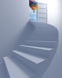 Stairway to the freedom and balloon Stock Photography